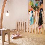 tabouret et lampe de Julien Quartier